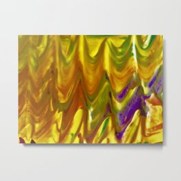 Yellow and Purple Texture Metal Print