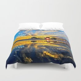 Sunset ~ Huntington Beach Pier CA  11/7/13 Duvet Cover