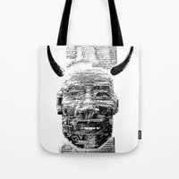 pocket fuel Tote Bags featuring Nightmare Fuel by Danielle Brady