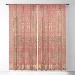 Moroccan Traditional Heritage Design Berber Style E5 Sheer Curtain