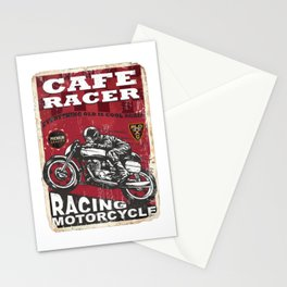 Coffee cafe racer Stationery Cards