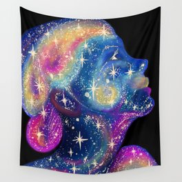 Star Girl cosmic pretty face Wall Tapestry