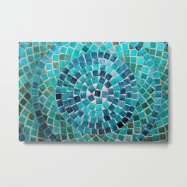 circular - photograph of mosaic tiles Metal Print