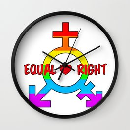 Gay Pride (14) Wall Clock