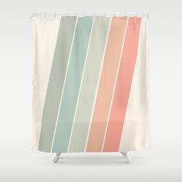 Trippin' - retro 70s socal minimal striped abstract art california surfing vintage Shower Curtain