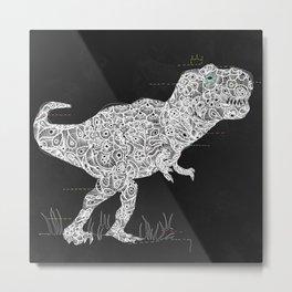 Lace Rex Metal Print