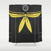 persona Shower Curtains featuring Persona 4 Rise Kujikawa Uniform by Bunny Frost