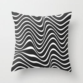 Wavy Line Throw Pillow