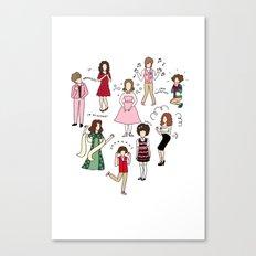 Kristen Wiig Characters Canvas Print