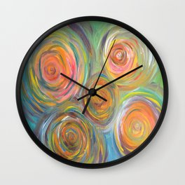Abstract Glow  Wall Clock