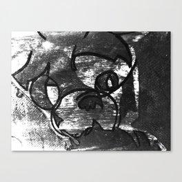 Hell Unit (Detail 1) B&W, YODA Canvas Print