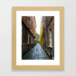 Alley to the Past Framed Art Print