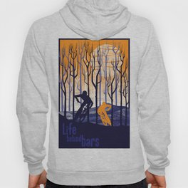 retro mountain bike poster, Life behind bars Hoody