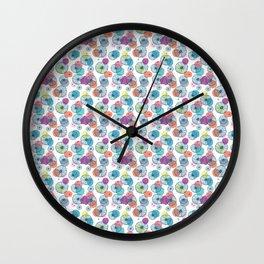 Poppin' Posies Wall Clock
