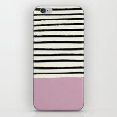Dusty Rose & Stripes iPhone & iPod Skin
