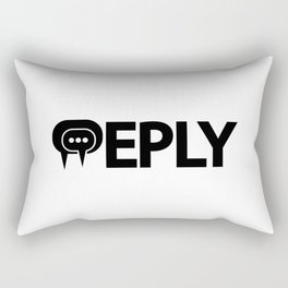 Reply replying. One word typography design Rectangular Pillow