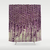 honeycomb Shower Curtains featuring Honeycomb by BellagioVista
