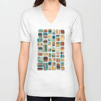 kandinsky V-neck T-shirts featuring Color apothecary by Efi Tolia