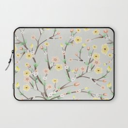 Spring Blossom grey background Laptop Sleeve