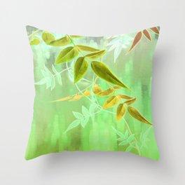 Jade Jasmine Sunrise Throw Pillow