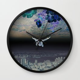 A Skydiver Between Two Parallel Universes Wall Clock