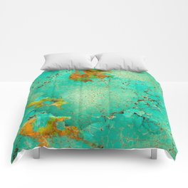Crackeled Turquoise Stone Comforters