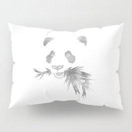 Panda Bear & Bamboo - Silver Pillow Sham