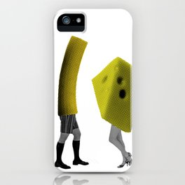 Because she's the cheese and I'm the macaroni iPhone Case