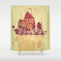 junk food Shower Curtains featuring Junk by Steve W Schwartz Art