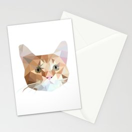 Cubic Cat Stationery Cards