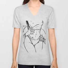 Touch and love Unisex V-Neck
