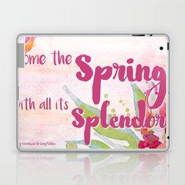 Come the Spring Longfellow Laptop & iPad Skin
