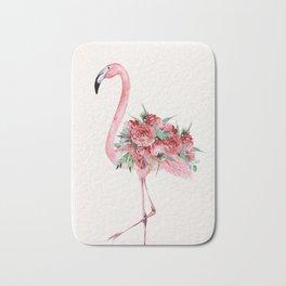 Flamingo Floral Bath Mat
