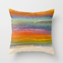 Beautiful Mountains Abstract Landscape 16 Throw Pillow