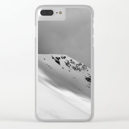 Snow Covered Mountain Slope Clear iPhone Case