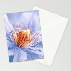 Clematis blue macro 028 Stationery Cards