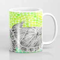 eric fan Mugs featuring New Friends 1 by Eric Fan and Garima Dhawan by Eric Fan