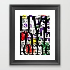 Abstract Text Framed Art Print