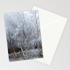 Frosty Trees in Winter Snow Stationery Cards