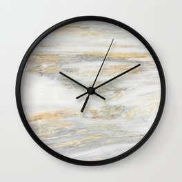 White Gold Marble Texture Wall Clock