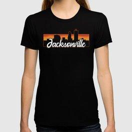 Vintage Jacksonville Florida Sunset Skyline T-Shirt T-shirt
