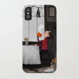 Bewitched pumpkin coffee iPhone Case