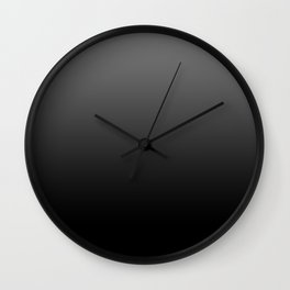 Dark Ombre Wall Clock