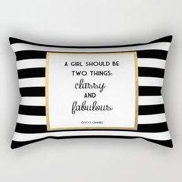 Coco Gold Classy & Fabulous Gold Print Rectangular Pillow