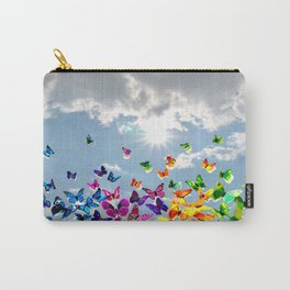 Butterflies in blue sky Carry-All Pouch