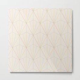 Gisela Geometric Line Pattern - Rainbow Metal Print