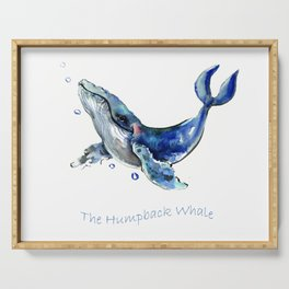 Whale Artowrk, Humpback Whale Serving Tray