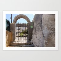 Streets of Santorini Art Print