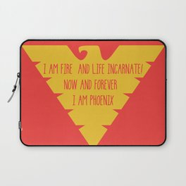 i am fire and life incarnate now and forever i am dark phoenix Laptop Sleeve