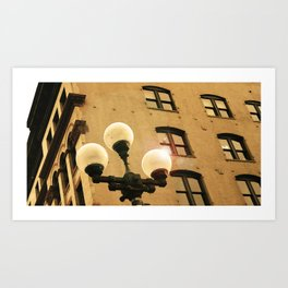 pioneer square, Seattle Art Print